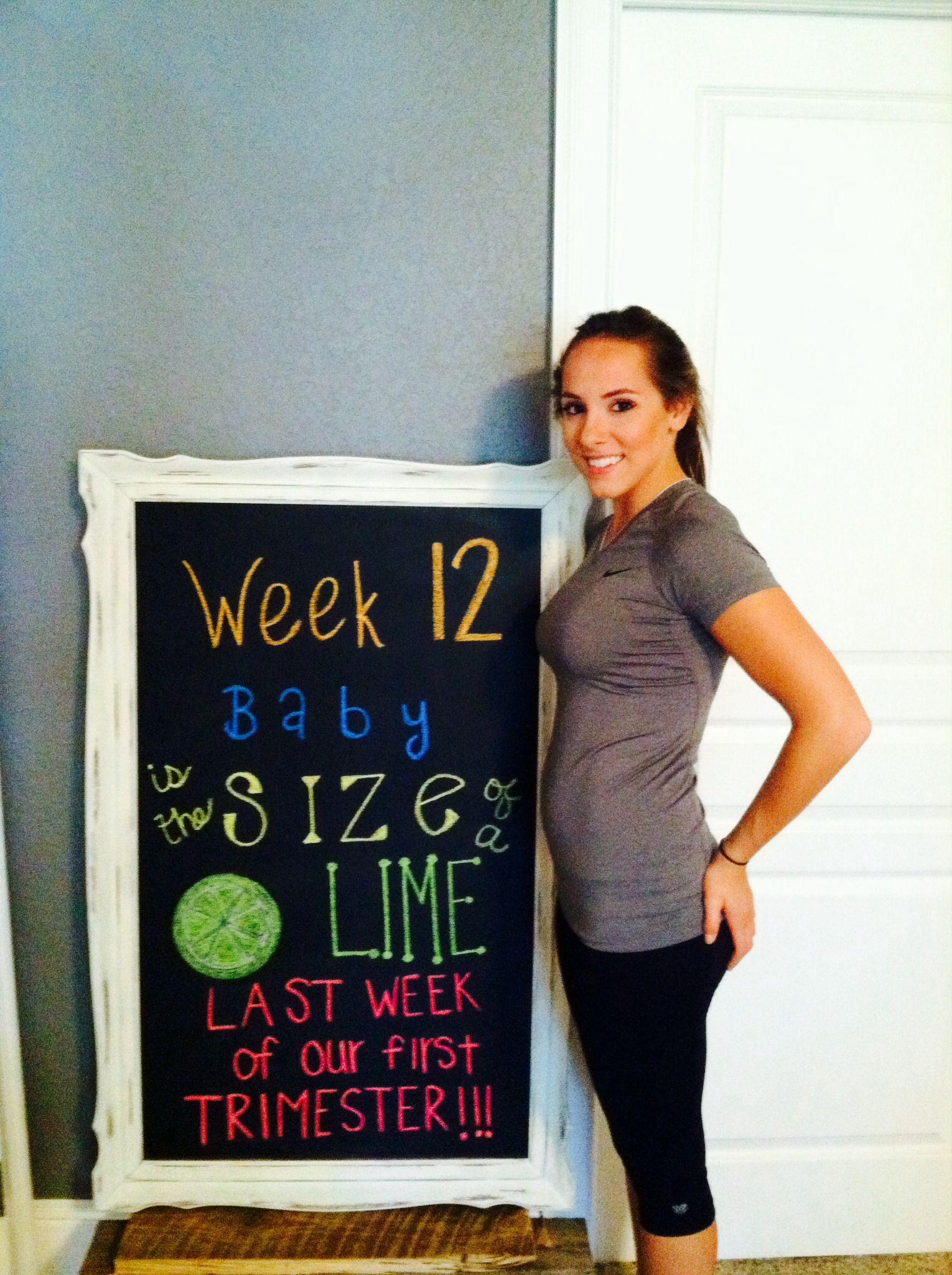 12 Weeks Pregnant 12weeks Pregnant Chalkboard Baby