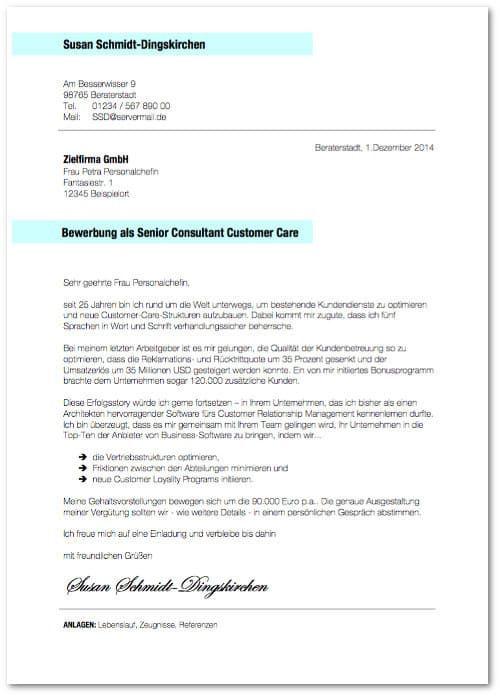 Bewerbungsmuster Bewerbungsschreiben BeraterIN Vorlage kostenlos ...