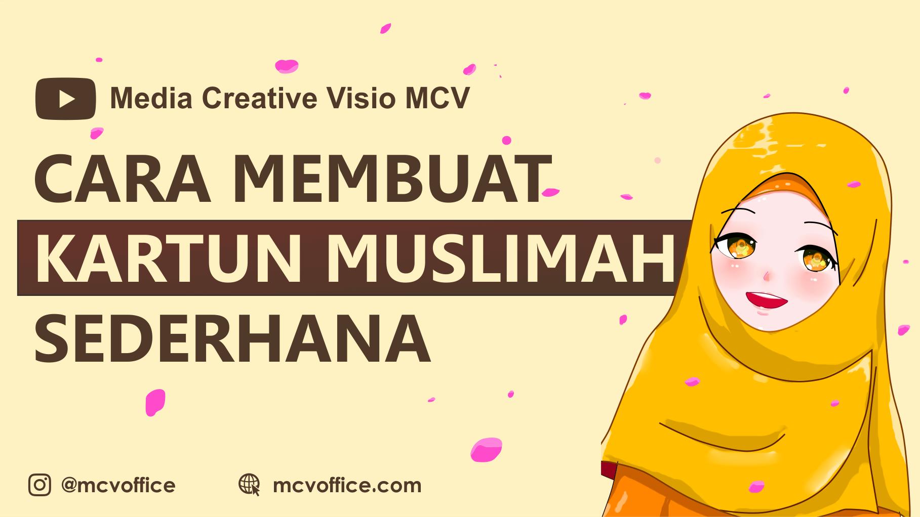 Cara Membuat Kartun Muslimah Terbaru Mudah Kartun Photoshop Desain Grafis