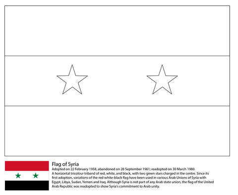 flag of syria coloring page flag coloring pages syria