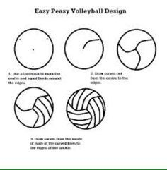 How tto draw a volleyball - Google Search | Volleyball | Pinterest ...