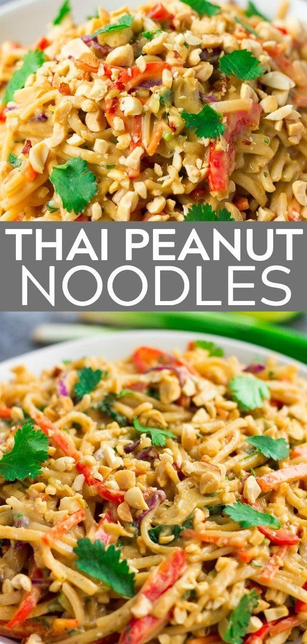 Einfache und schnelle Thai-Erdnussnudeln! 20 Minuten ist alles, was es braucht, um diese Flavo zu machen -