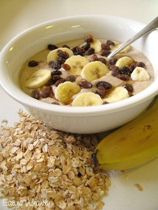 Raw banana oatmeal porridge