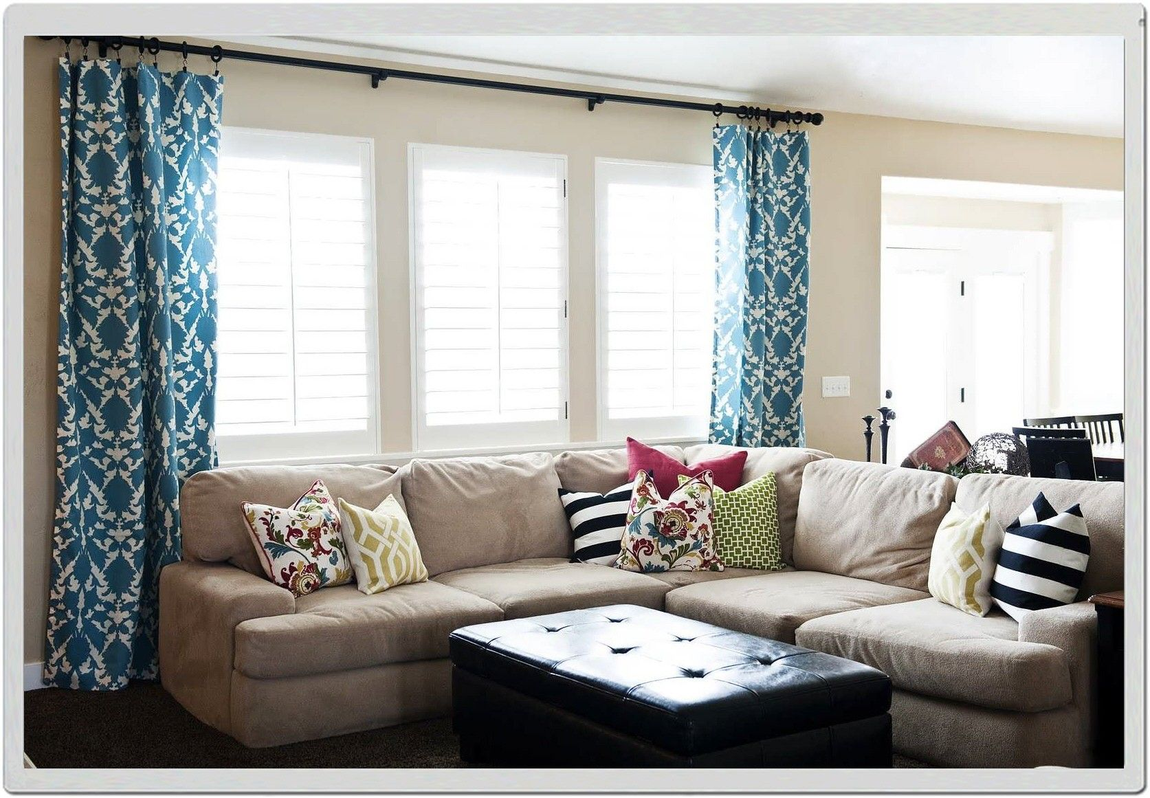 Image Result For Curtains Across Multiple Windows Living Room