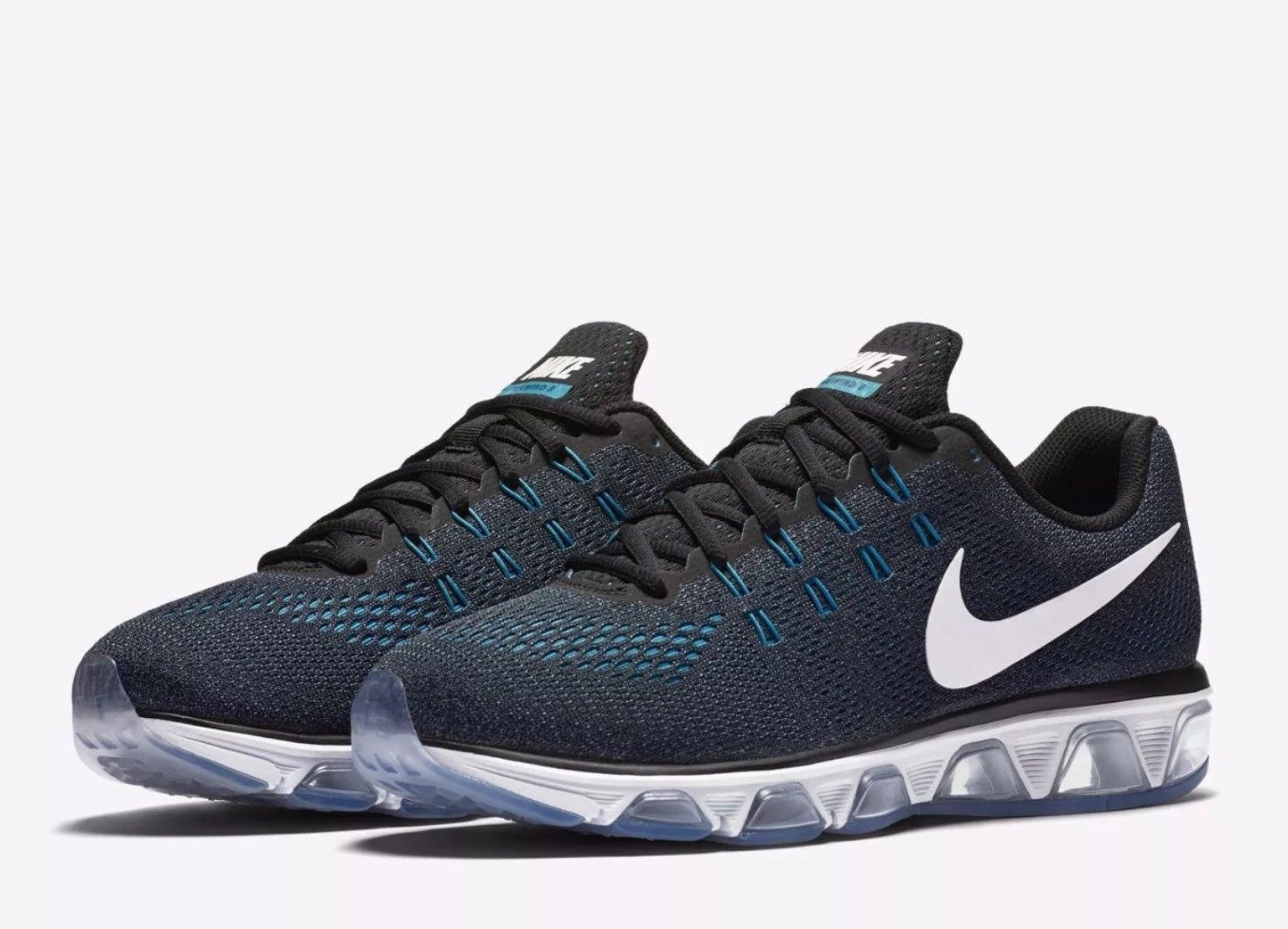 NIKE AIR MAX TAILWIND 8 BLACK / WHITE-OCEAN FOG (805941-005). Men Running  ShoesMens ...