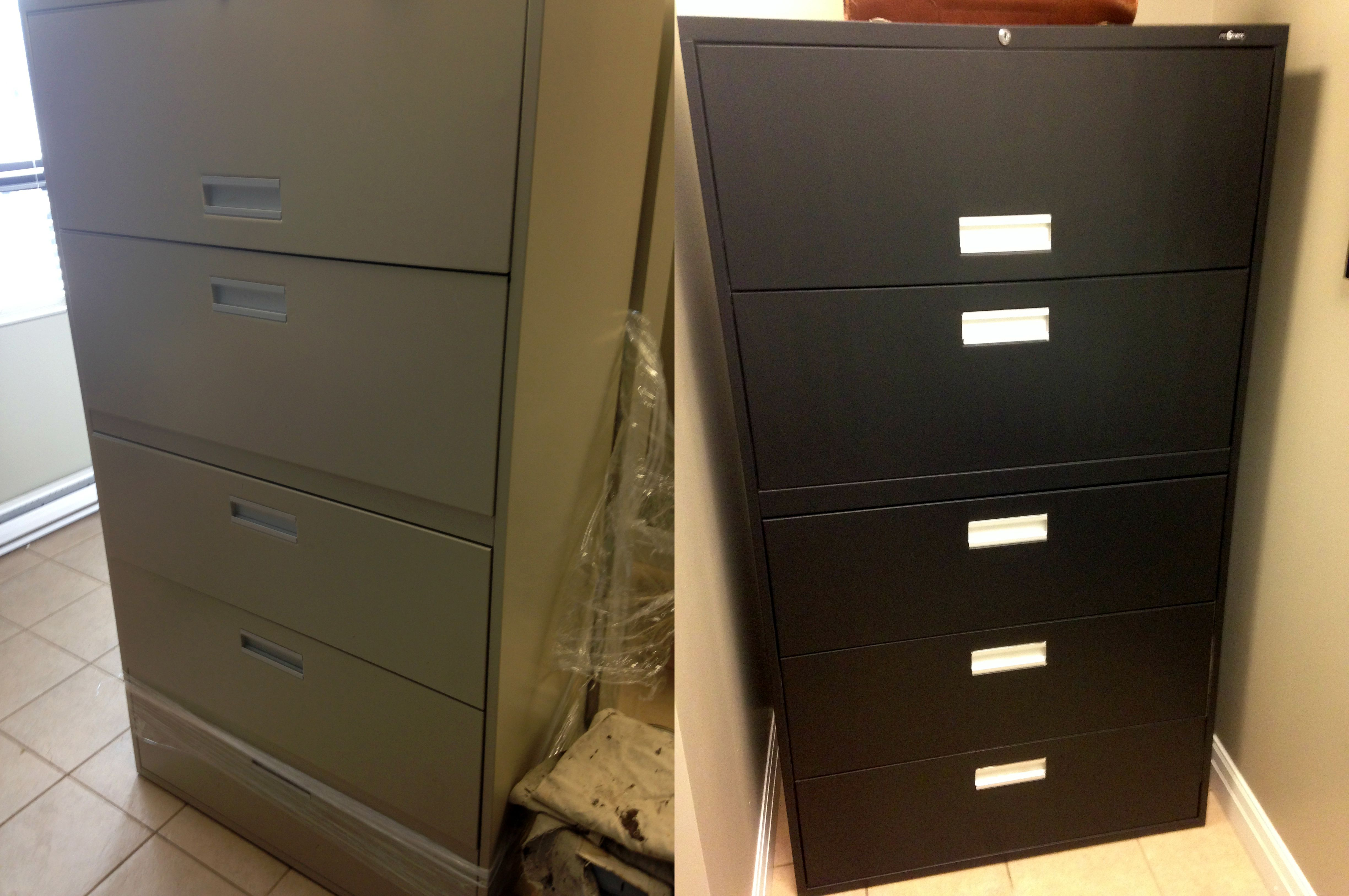 Filing Cabinet Makeover Paint Your Boring Cabinets A Flat Black For Look That