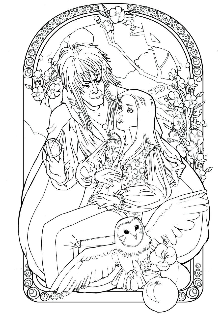 Labyrinthe By Audreymolinatti On Deviantart Disney Coloring Pages Coloring Books Coloring Pages
