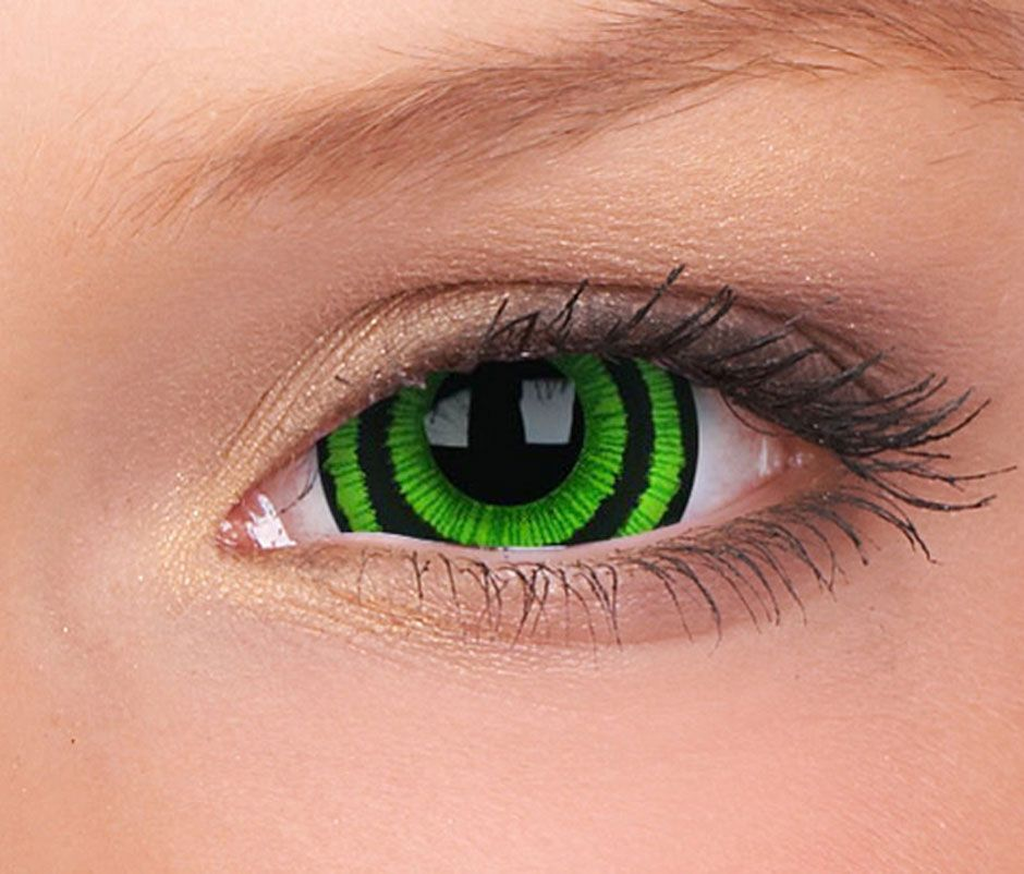 c670e82f03 Green Contact Lenses | ... Lenses Sclera 22mm Contacts Green Goblin - 17mm  Mini-Sclera Contact