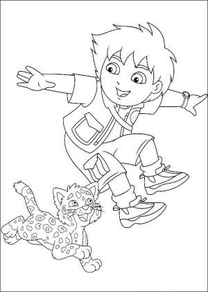 Go Diego Go Coloring Page 10 Nick Jr Coloring Pages