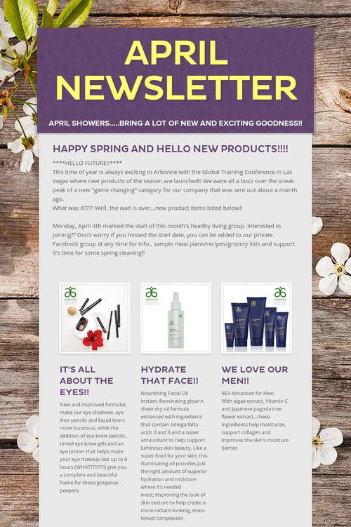 Help Spread The Word About April Newsletter Please Share