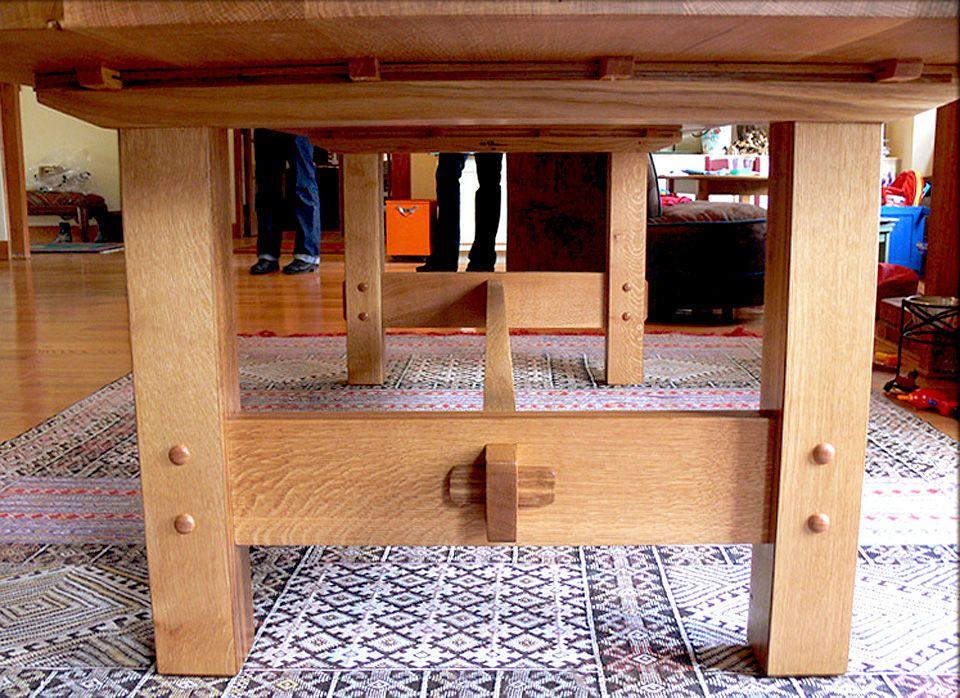 Hand Made Custom Built White Oak Dining Tablenick Offerman Alluring Custom Built Dining Room Tables Inspiration Design