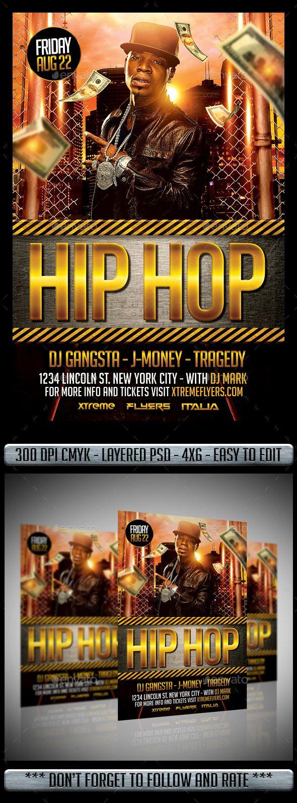 Hip Hop Flyer  FontsLogosIcons    Hip Hop Font Logo