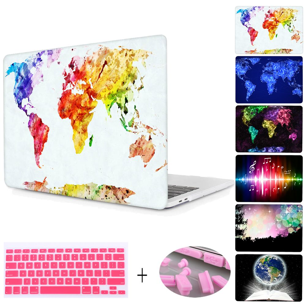For macbook pro 13 15 with retina 12 shell world map print plactis for macbook pro 13 15 with retina 12 shell world map print plactis hard case for mac air 11 13 with keyboard cover dust plug gumiabroncs Choice Image