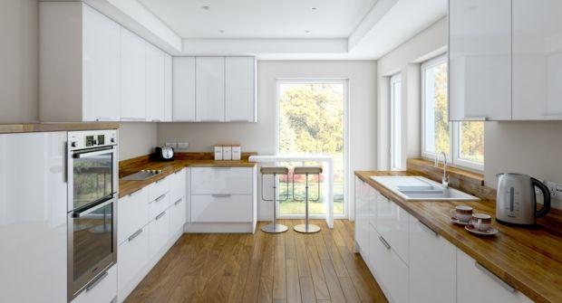 Cuisine blanche et bois le mariage parfait pour une ambiance parfaite c - Cuisine blanche parquet ...