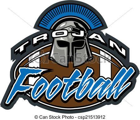 Vector Trojan Football Design Stock Illustration Royalty Free
