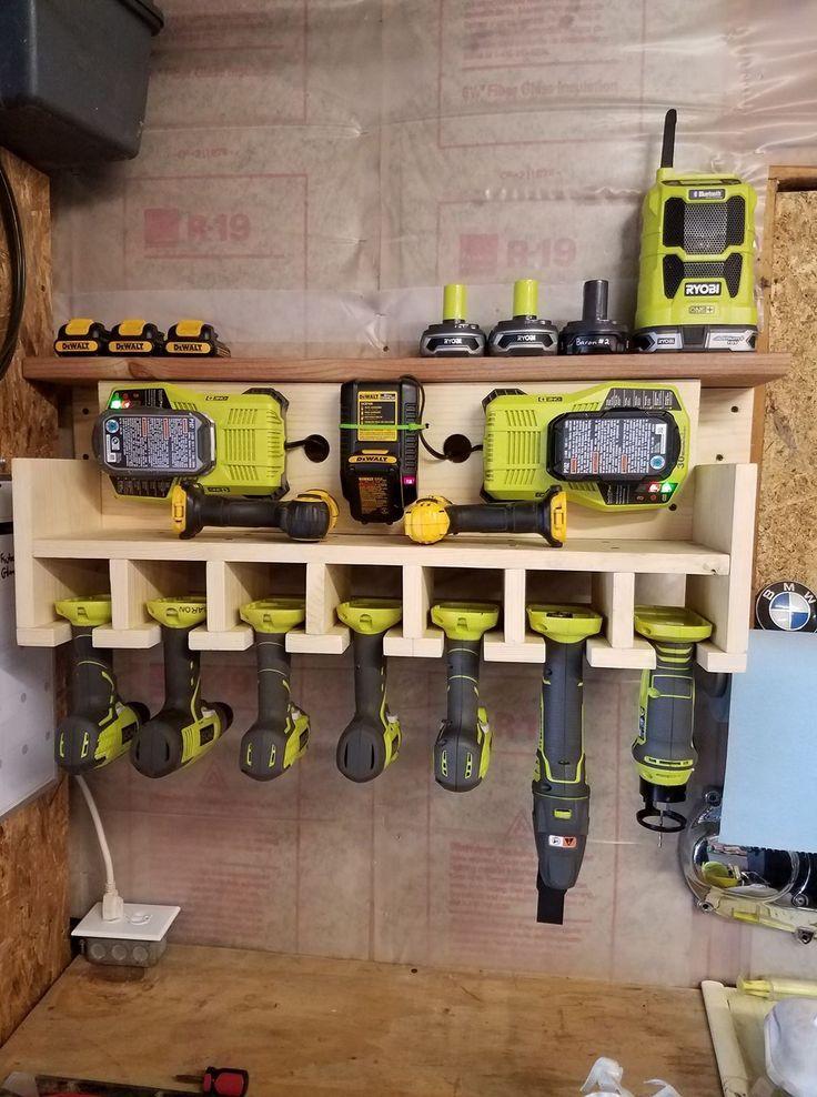 Garage Wall Tool Drill Caddy Ryobi Garage Organization