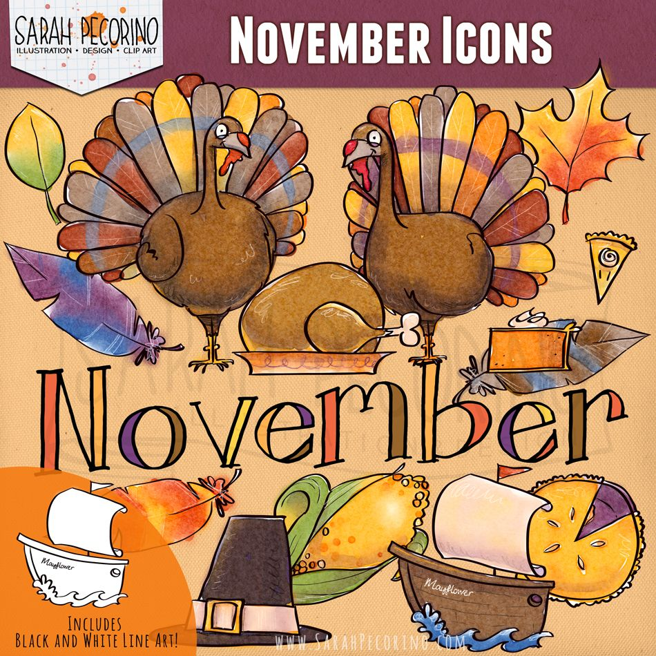 November Clip Art {First Edition} (With images) Clip art