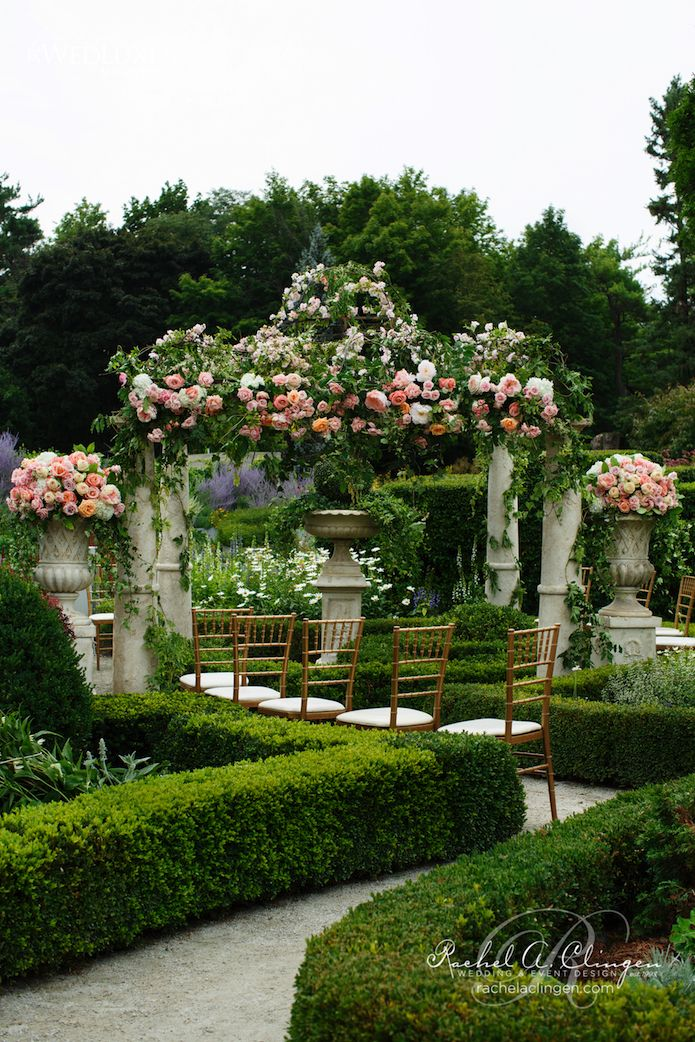 Floral Wedding Gazebo at Botanical Gardens by Rachel A. Clingen ...
