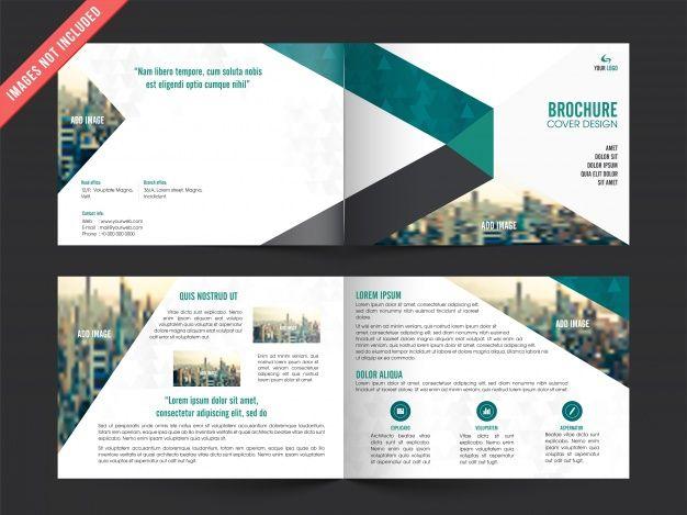 Business leaflet template with color elements Premium Vector - leaflet template