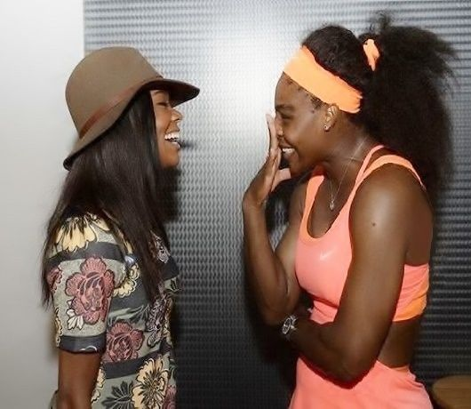 2/5/16 Via Miami Open · #TBT to this sweet moment between Serena Williams and friend Gabrielle Union at last year's Miami Open! #FriendsDay