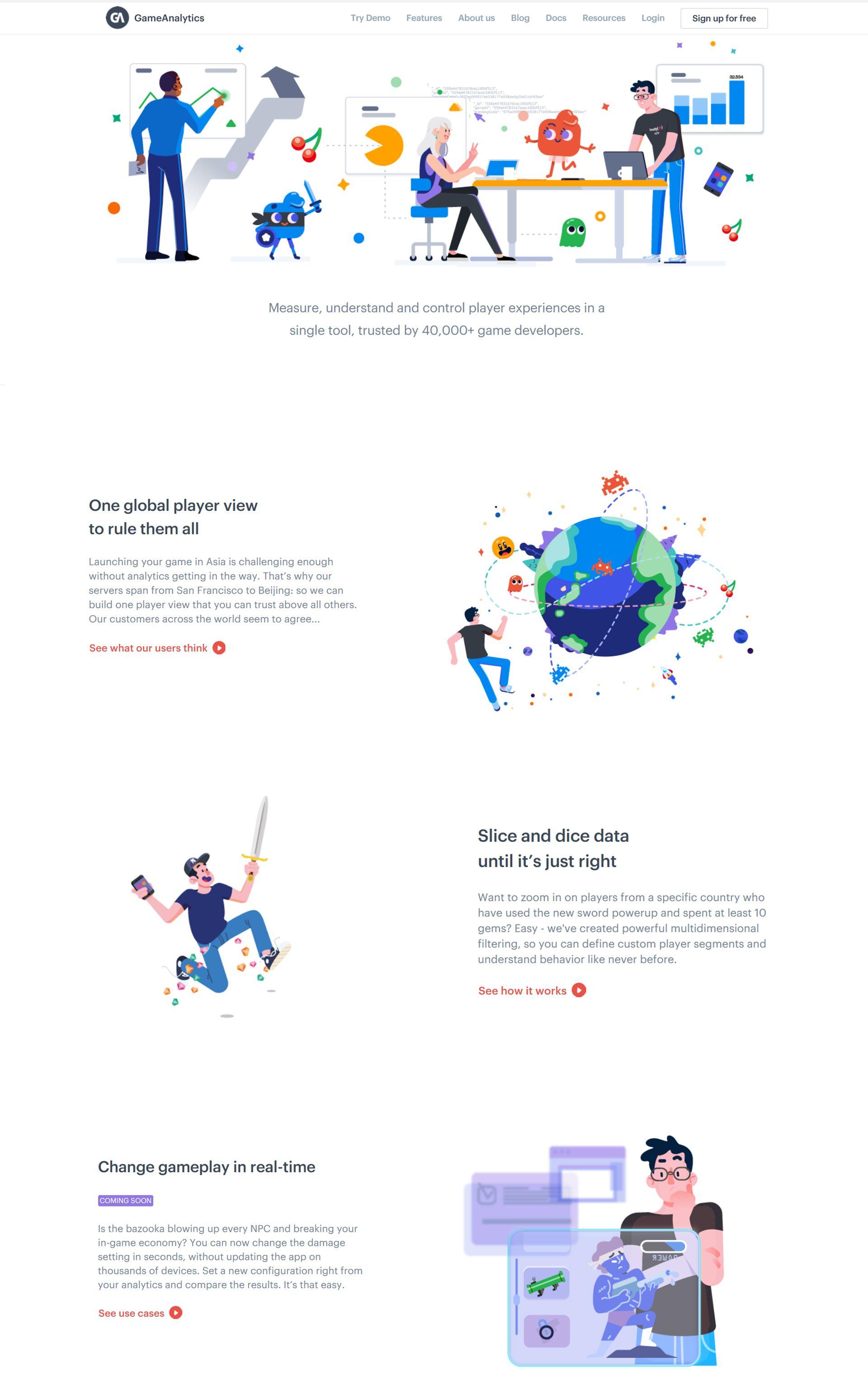 Game Analytics website   •  Children based  •   Game