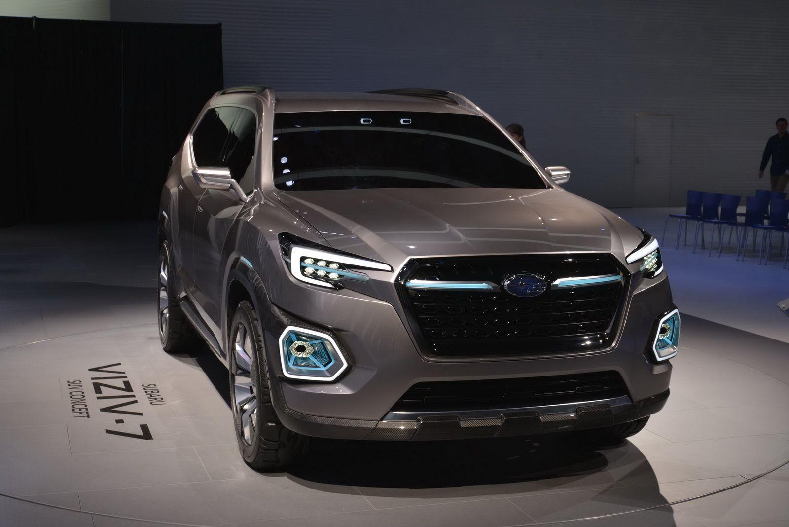 Subaru Viziv 7 Is A Map Of Things To Come W Videos Carscoops In 2020 Subaru Subaru Baja Subaru Cars