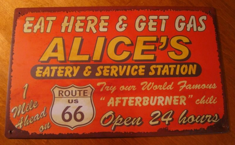 Old Restaurant Signs Rustic Tin Metal