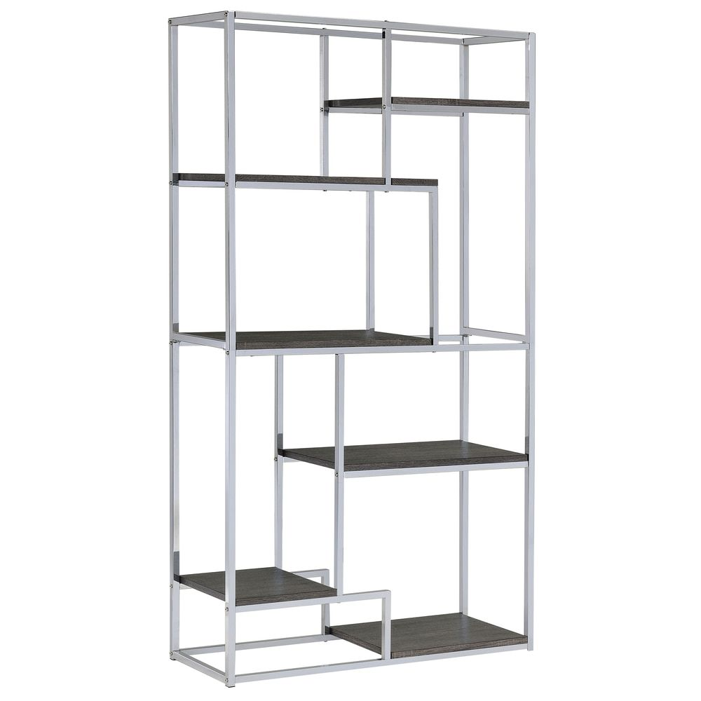 Furniture of America Nara Contemporary 6-Shelf Tiered Open Bookcase - Free Shipping Today - Overstock.com - 17498366 - Mobile