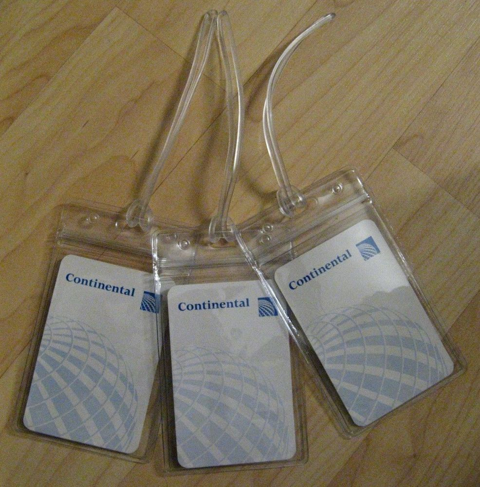 Continental Airlines Luggage Tags CO World Logo Air