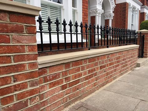 Garden Wall Metal Railings Multi London Garden Design