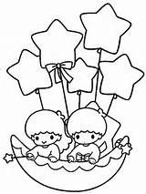 Little Twins Star Colouring Pages Star Coloring Pages Hello Kitty Colouring Pages Hello Kitty Drawing