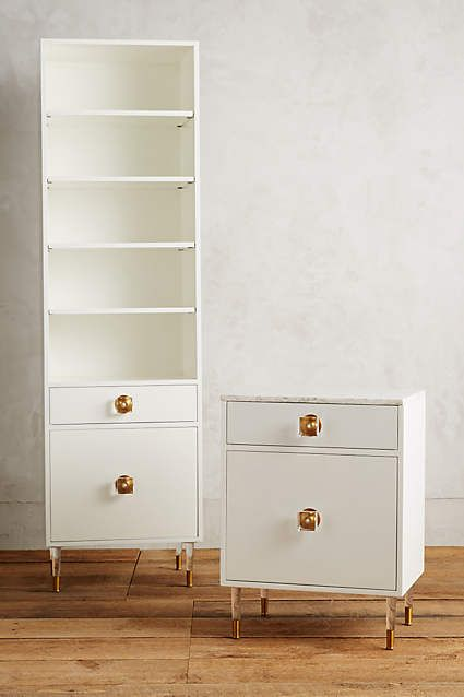Lacquered Regency Bath Cabinet, Tall - anthropologie.com