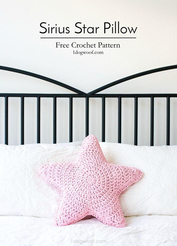 Sirius the Crochet Star Pillow | Häkeln, Häkeln ideen und Häkelideen
