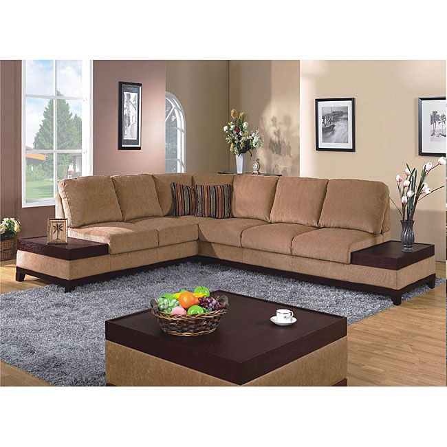 Furniture Of America Raul 3 Piece Sectional With End Tables And Coffee Table 3 Piece Sectional Sofa Furniture Of America 3 Piece Sectional