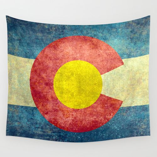 Colorado State Flag Wall Tapestry #Colorado #state #flag | Room ...