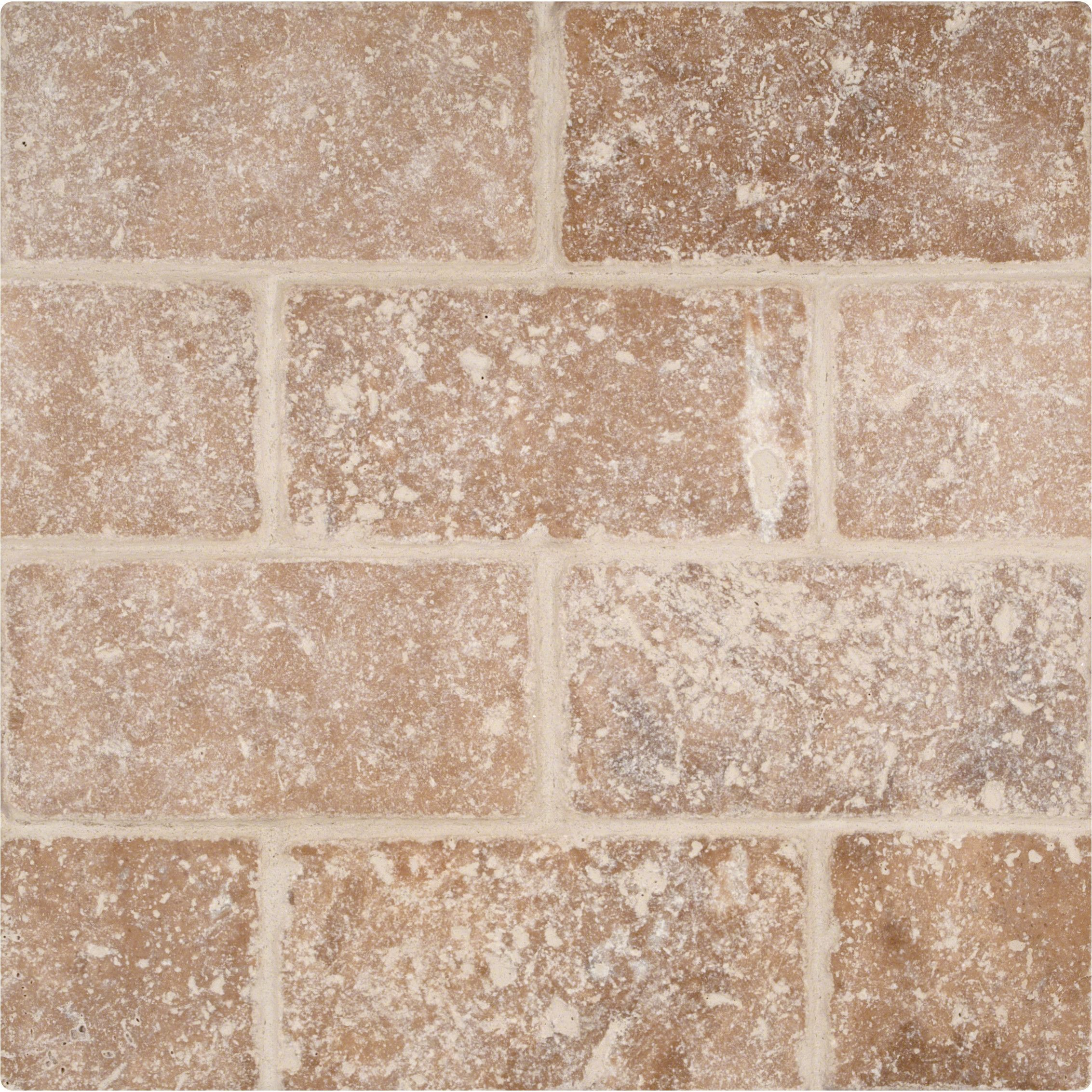Ms international tuscany walnut 3 x 6 travertine subway tile in dailygadgetfo Image collections
