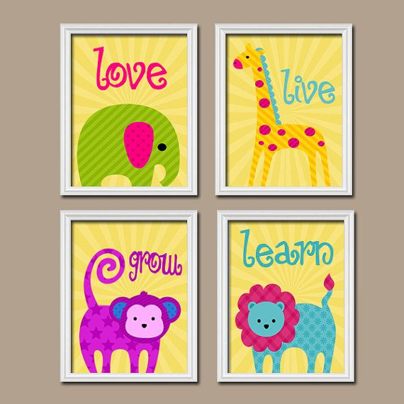 Wall Art Nursery Canvas Artwork Child Wall Art Love by trmDesign ...