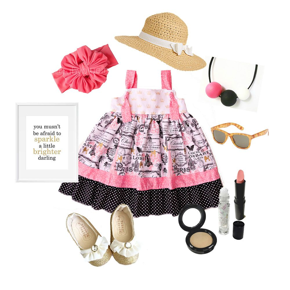 A coral, black, and gold #ootd featuring the brand new Le Chocolat twirl knot dress and matching accessories!