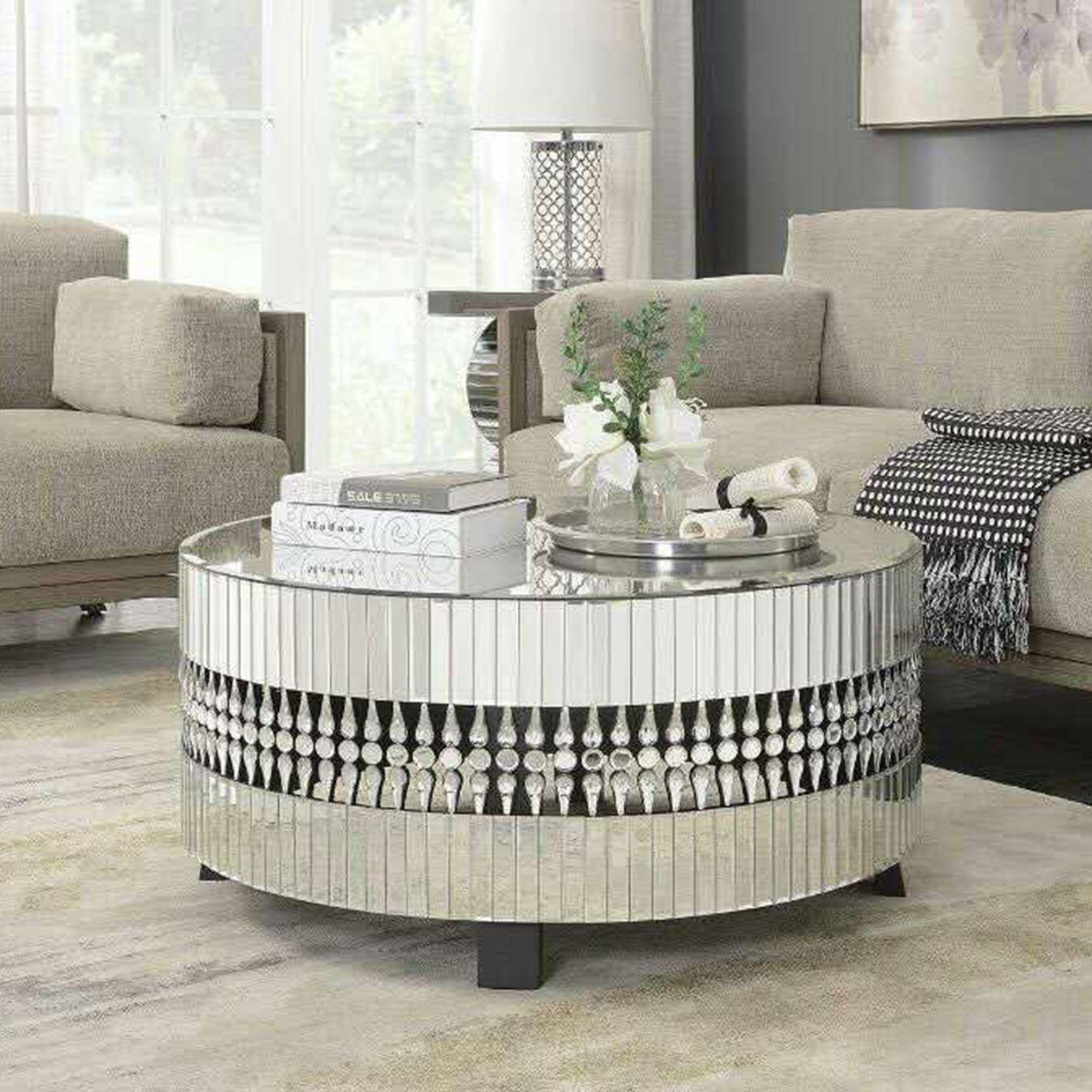 Crystal Coffee Table, Mirror Mirrored furniture