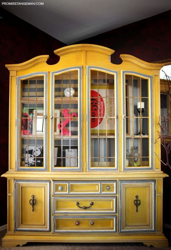 Perfect China Cabinets   Refinishing / Affordable New Options. Love The Color!