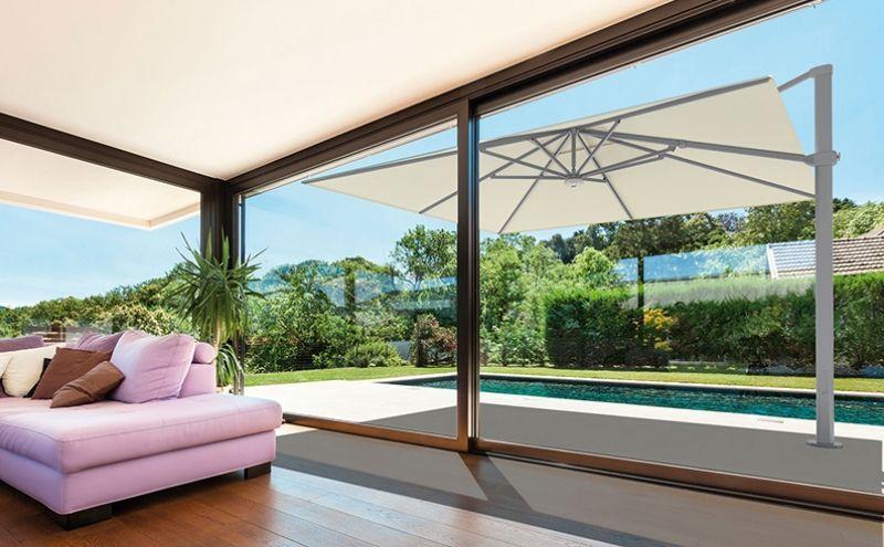 sonnenschirm palestro 300 x 400 cm und 400 x 400 cm luxus freiarmschirm ampelschirm 300 x 400. Black Bedroom Furniture Sets. Home Design Ideas
