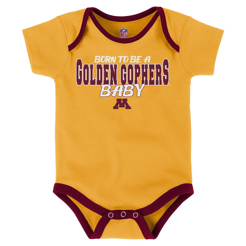 Baby Minnesota Golden Gophers Playmaker 3Pack Bodysuit