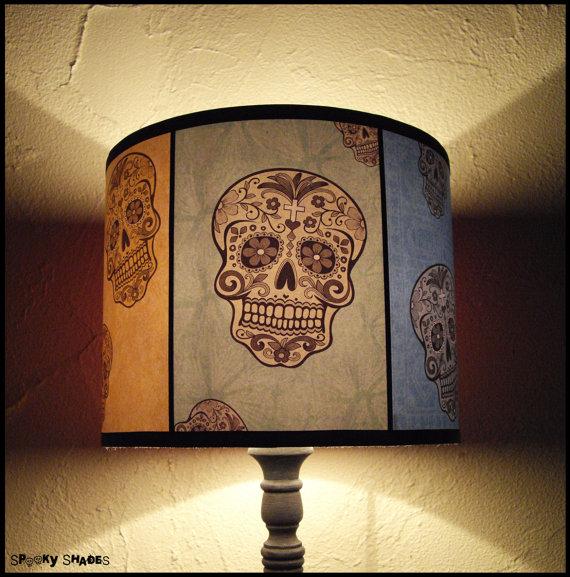 Rainbow sugar skulls lamp shade lampshade spooky shades skull rainbow sugar skulls lamp shade lampshade spooky shades skull lamp shade sugar skull aloadofball Image collections