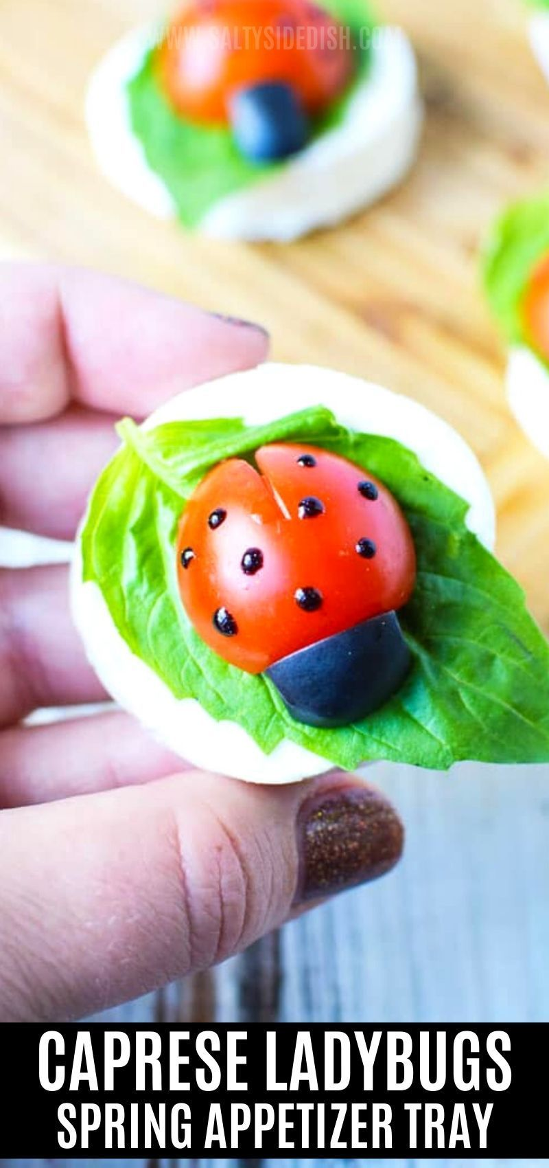 Photo of Easter Appetizer Recipe – Caprese Ladybugs  – fresh adorable spring appetizer tr…
