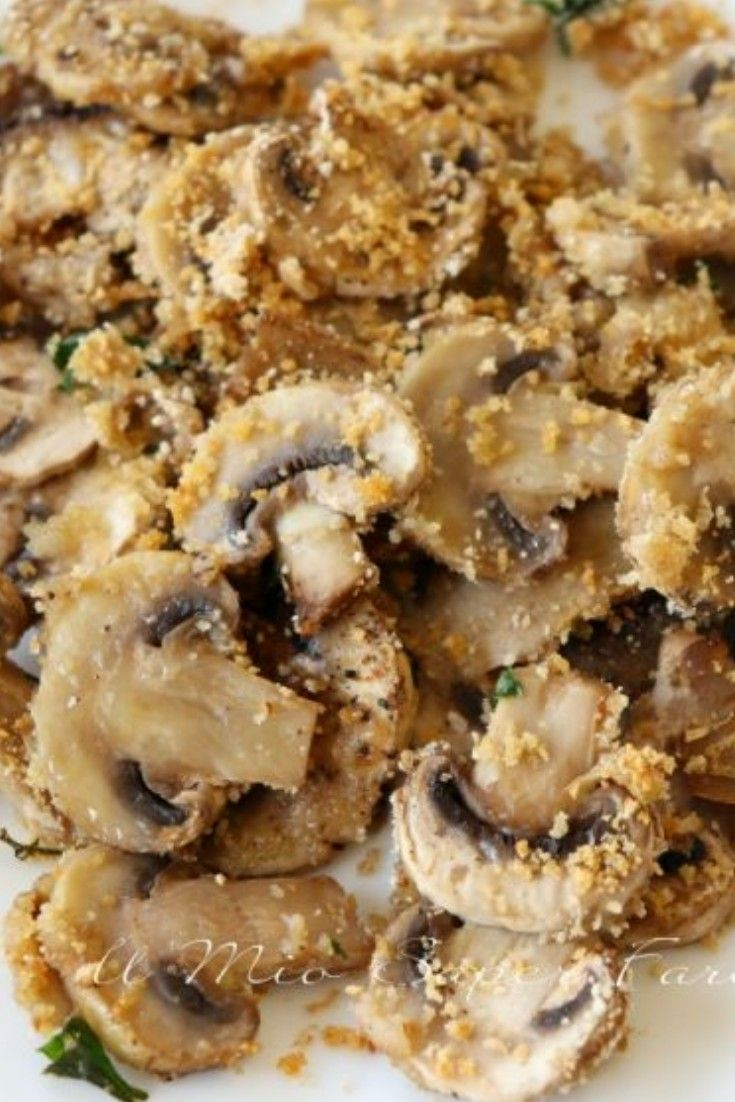 Photo of Baked mushrooms au gratin | quick and easy recipe- Funghi gr…
