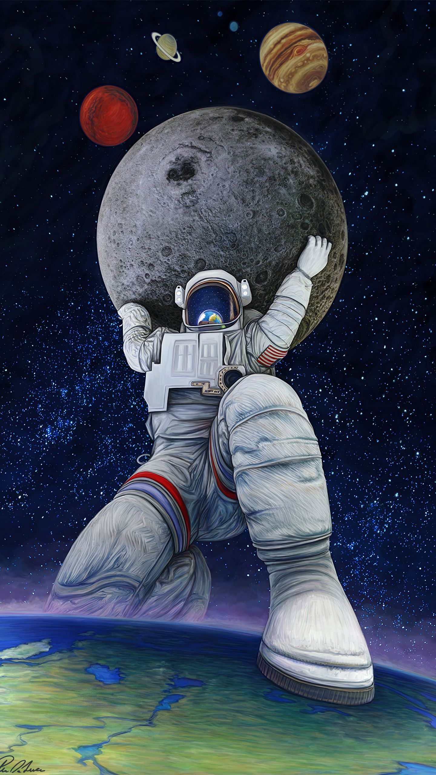 See My Collection Of Amazing Mobile Phone Art Wallpapers Hd Get Instant Access Free Art Smartphone C Astronaut Wallpaper Art Wallpaper Astronot Wallpaper