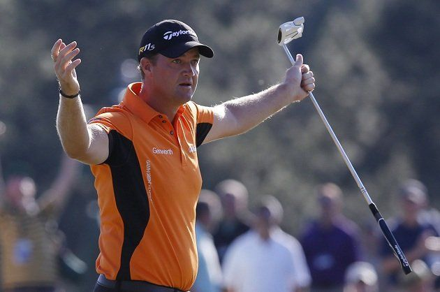 Golf Masters 2012 is this golfer Hansen a surprise leader with Mickelson after three rounds?    http://bit.ly/GoGolf12