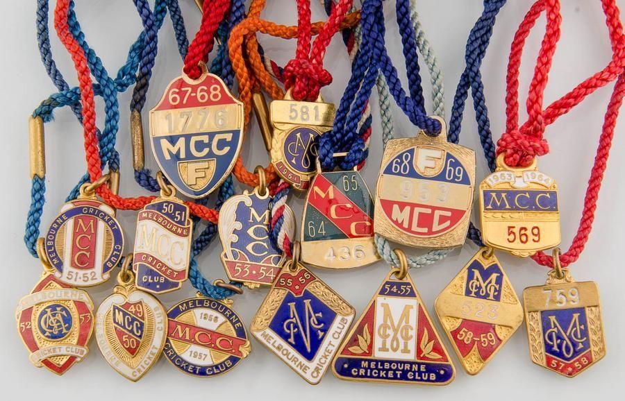 Cricket Memorabilia, Badges Melbourne Cricket Club (mcc