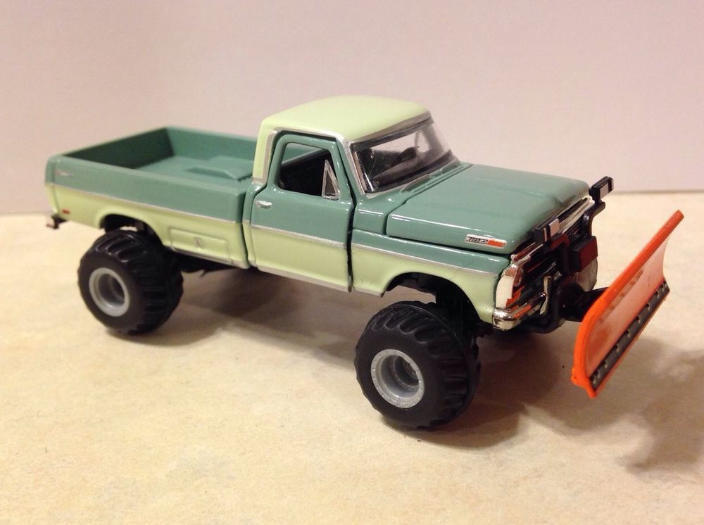 69 ford f250 custom lifted plow truck 164 diecast snow