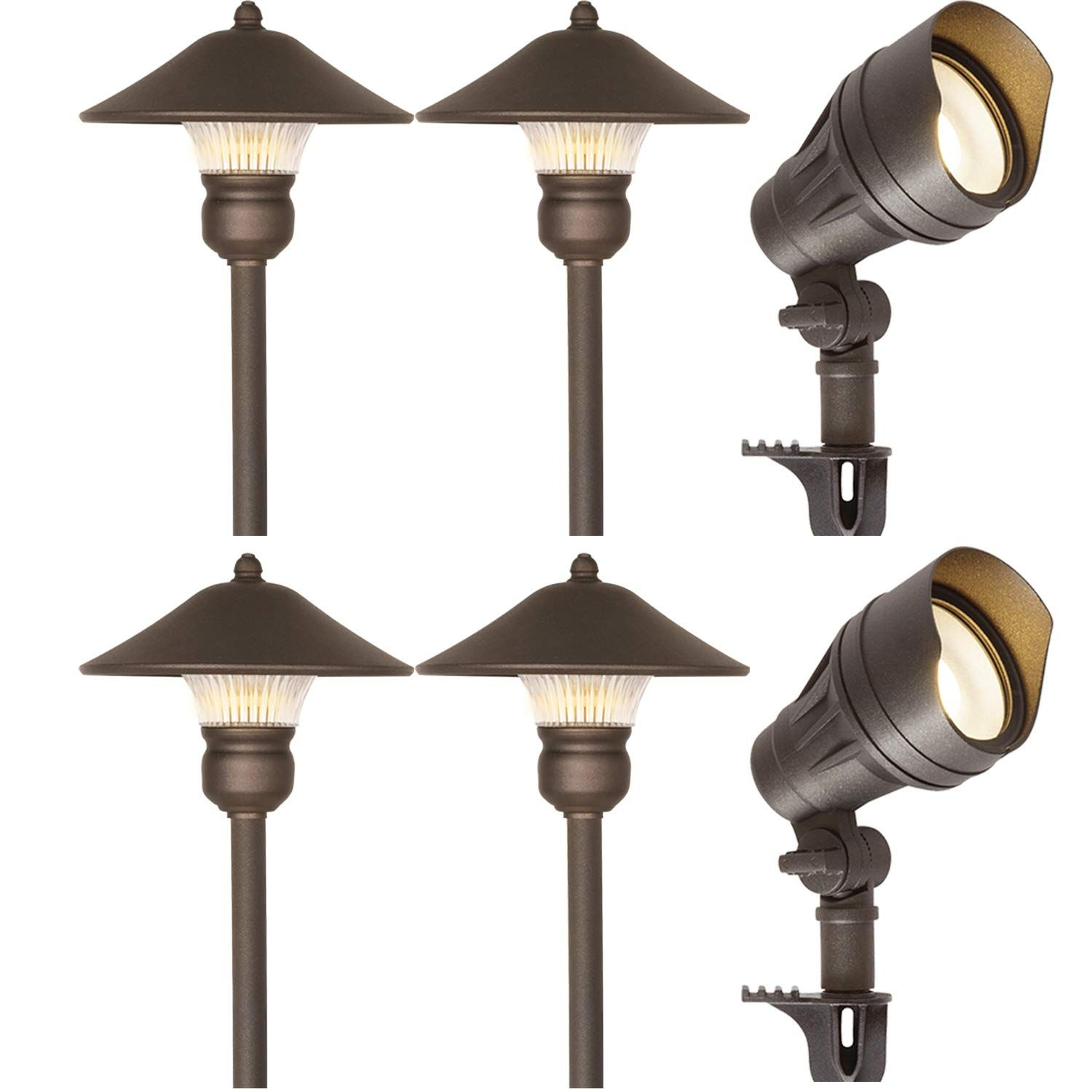 Hykolity 6 Pack Bronze Low Voltage Led Landscape Kits 12v Pathway Flood Light Kits 10w 39 Outdoor Light Fixtures Outdoor Lighting Design Diy Outdoor Lighting